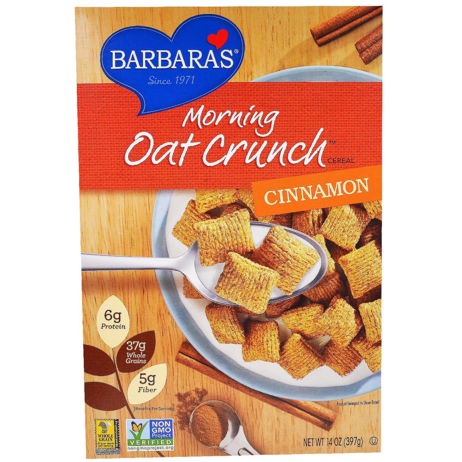 Barbara's Bakery, Хлопья «Утренний овсяный хруст», корица, 14 унции (397 г)