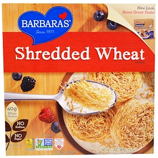 Barbara's Bakery, Shredded Wheat Cereal, 18 Biscuits, 13 oz (369 g)