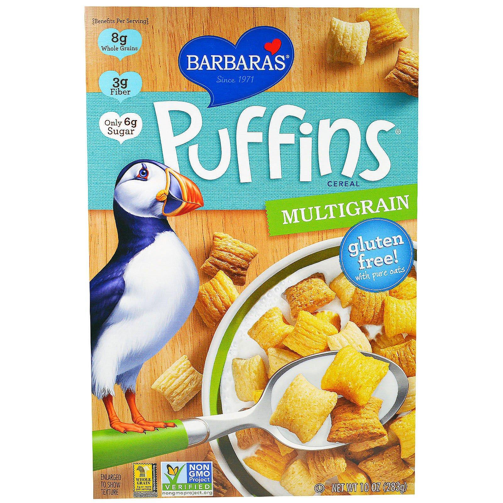 Barbara's Bakery, Puffins, мультизерновые хлопья, 283 г