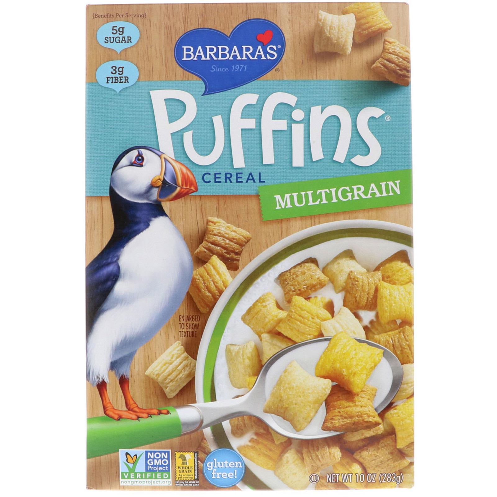 Barbara's Bakery, Puffins Cereal, Multigrain, 10 Oz (283 G