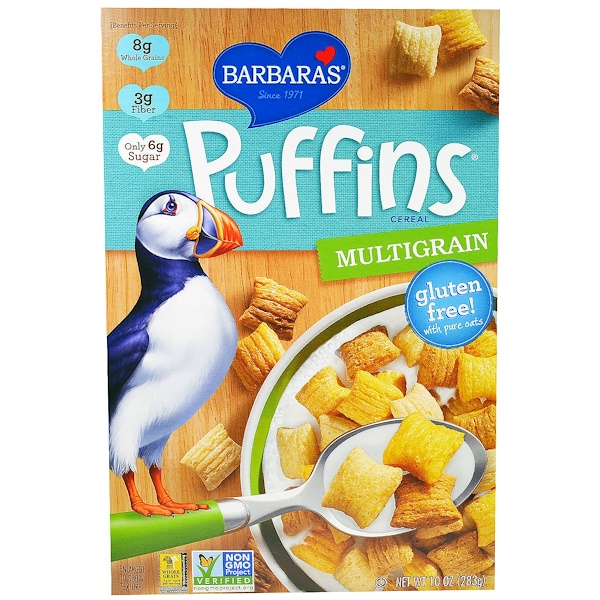 Barbara's Bakery, Puffins Cereal, Multigrain, 10 oz (283 g)