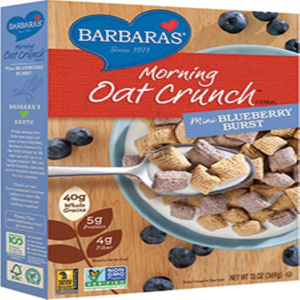 Barbara's Bakery, Morning Oat Crunch Cereal, Mini Blueberry Burst, 13 oz (369 g) (Discontinued Item)
