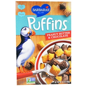Барбарас Бэйкари, Puffins Cereal, Peanut Butter & Chocolate, 10.5 oz (298 g) отзывы