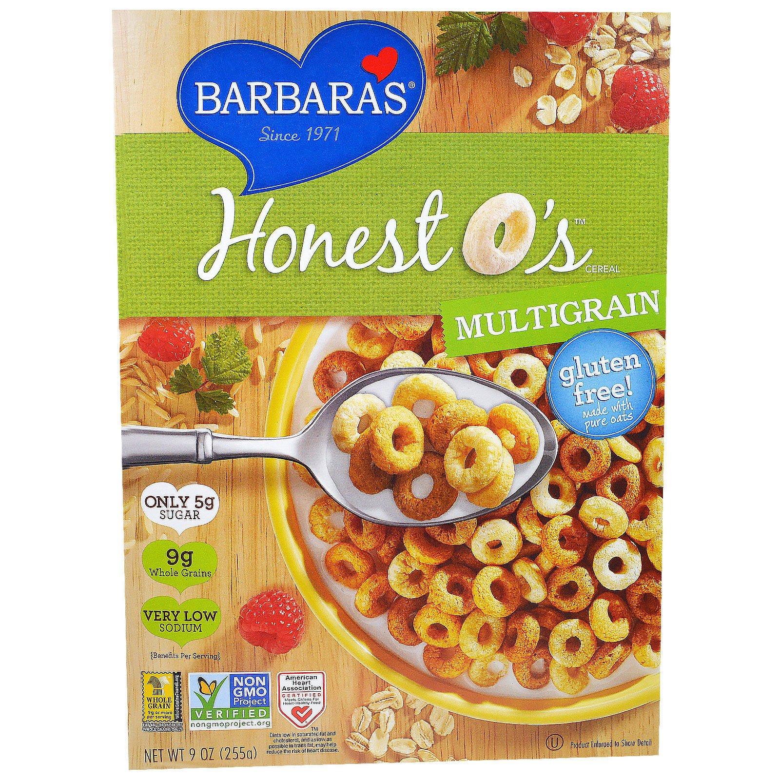 Barbara's Bakery, Зерновые хлопья  Колечки, мультизерновые, 9 унций (255 г)