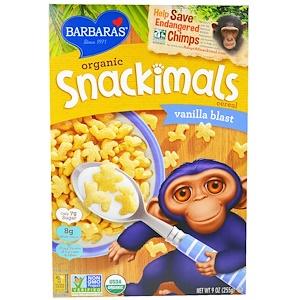Барбарас Бэйкари, Organic Snackimals Cereal, Vanilla Blast, 9 oz (255 g) отзывы