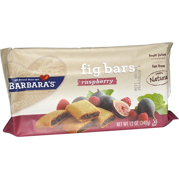 Barbara's Bakery, Fig Bars, Raspberry, 12 oz (340 g) (Discontinued Item)