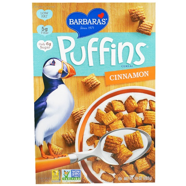 Barbara's Bakery, Puffins Cereal, Cinnamon, 10 oz (283 g) (Discontinued Item)