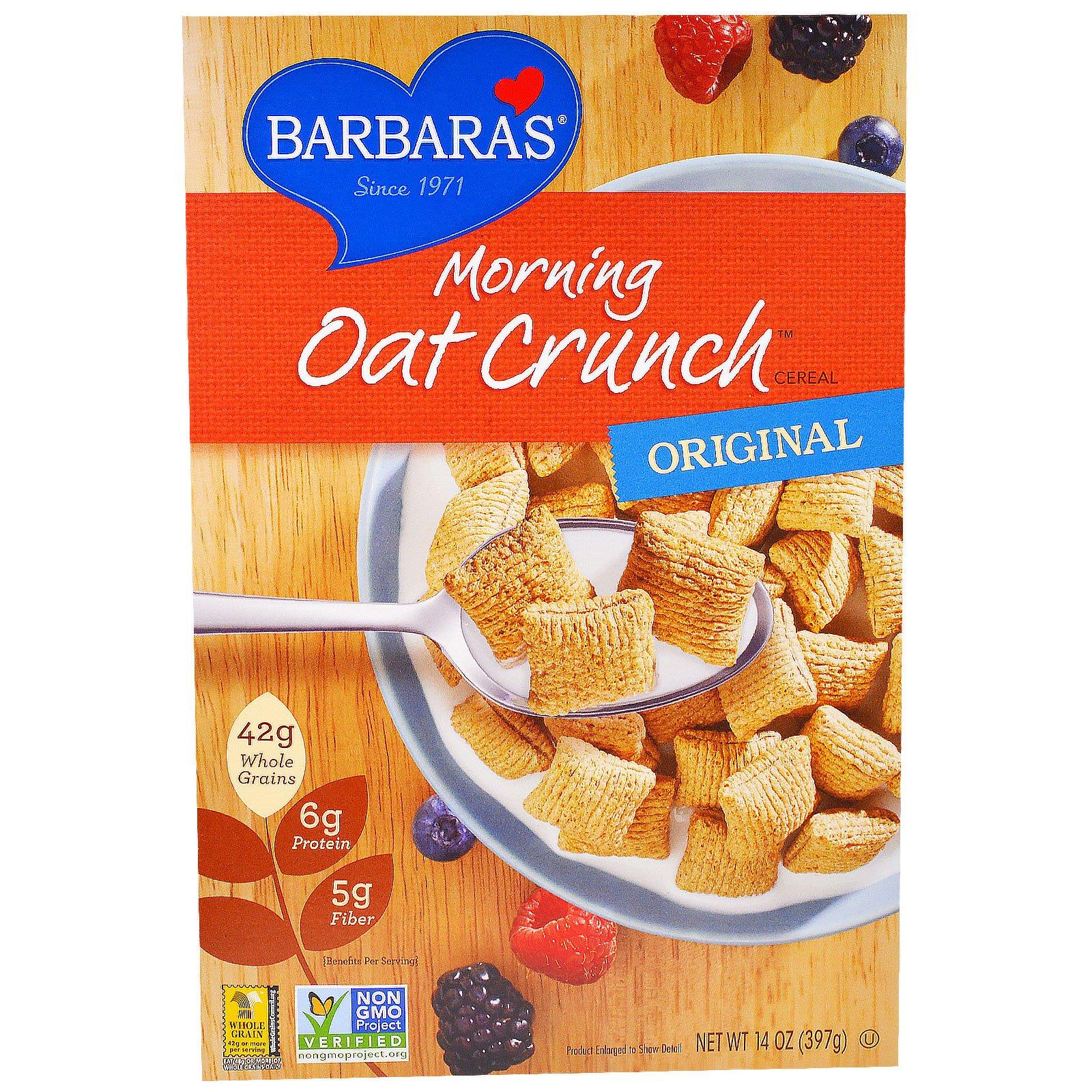 Barbara's Bakery, Хлопья Morning Oat Crunch Cereal, оригинальные, 14 унций (397 г)