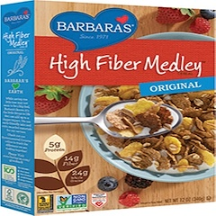 Barbara's Bakery, High Fiber Medley Cereal, Original, 12 oz (340 g)