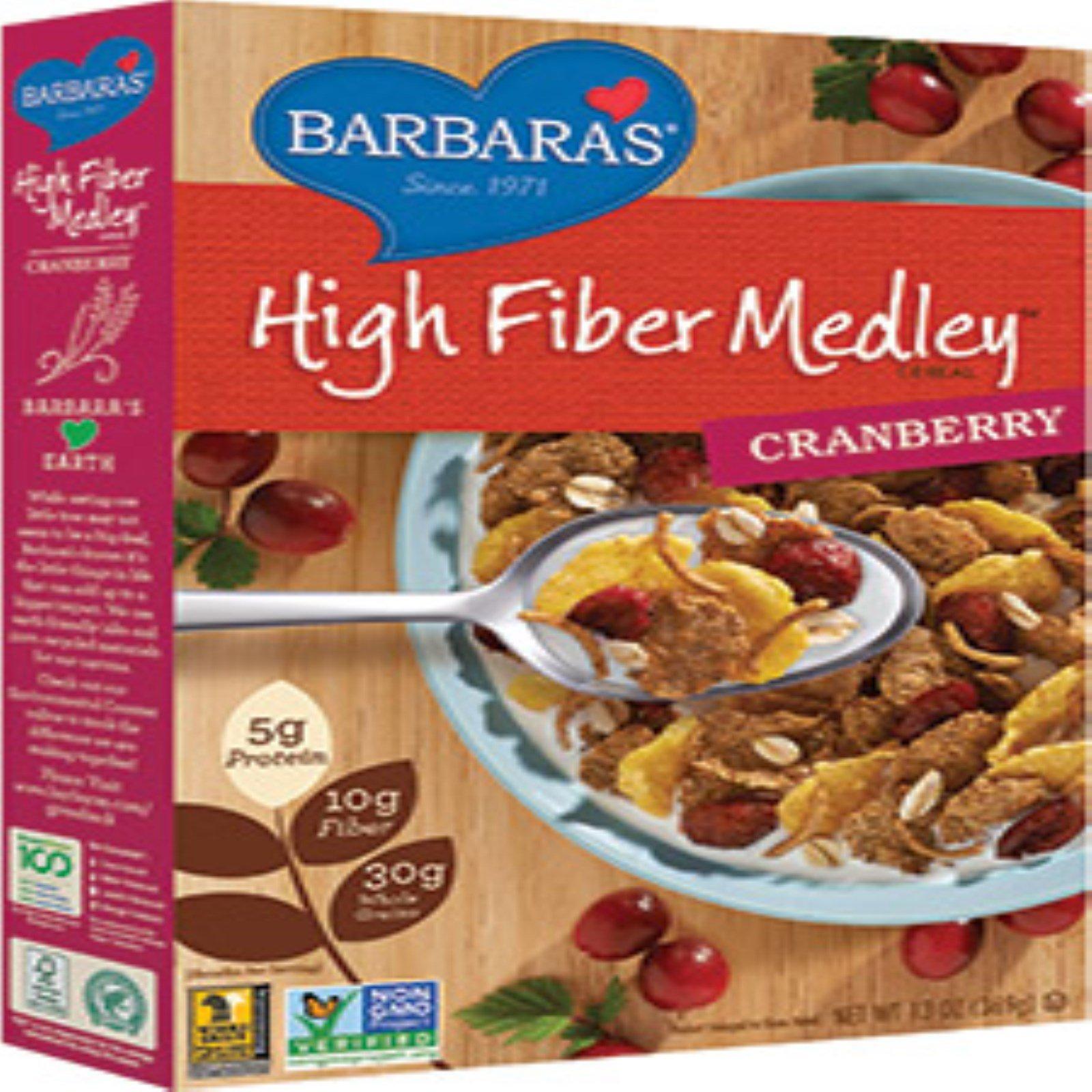 Barbara's Bakery, High Fiber Cereal, Cranberry, 13 Oz (369