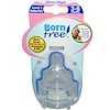 Born Free, Wide-Neck Silicone Nipples, Level 2 Medium Flow, 3-6 Months, 2 Nipples (Discontinued Item)