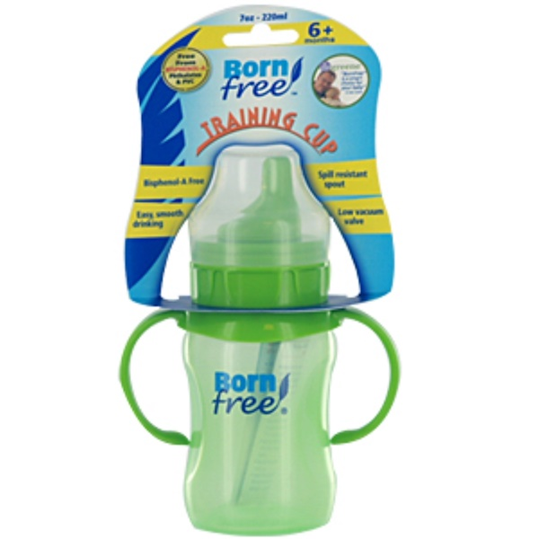 Born Free, Training Cup, 6+ Months, Soft Spout, Colors Vary, 1 Cup, 7 oz (220 ml) (Discontinued Item)