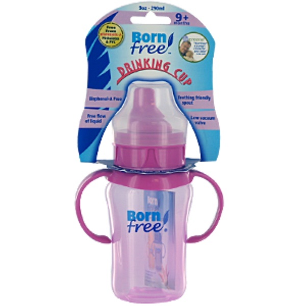 Born Free, Drinking Cup, 9+ Months, Hard Spout, Colors Vary, 1 Cup, 9 oz (290 ml) (Discontinued Item)