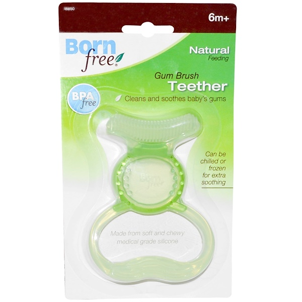 Born Free, Silicon Gum Brush Teether, 6 Months+ (Discontinued Item)
