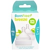 Born Free, Breeze, Silicone Nipples, Slow Flow, 0m+, 2 Pack