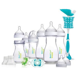 Born Free, Breeze Deluxe Gift Set, 0m+, 6 Bottles, 9 oz (266 ml) Each