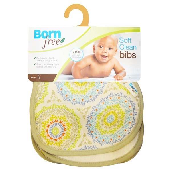 Born Free, Soft Clean Bibs, 3 Bibs (Discontinued Item)