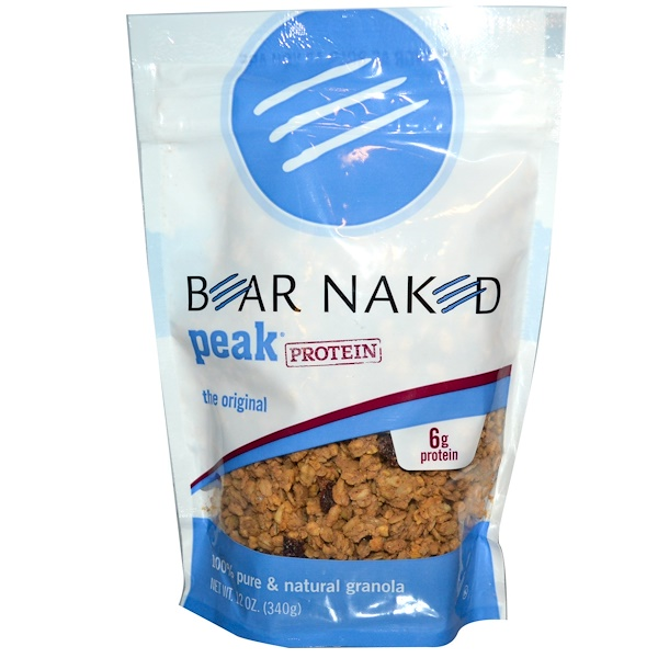 Bear Naked, Peak Protein, 100% Pure & Natural Granola, The Original, 12 oz (340 g) (Discontinued Item)