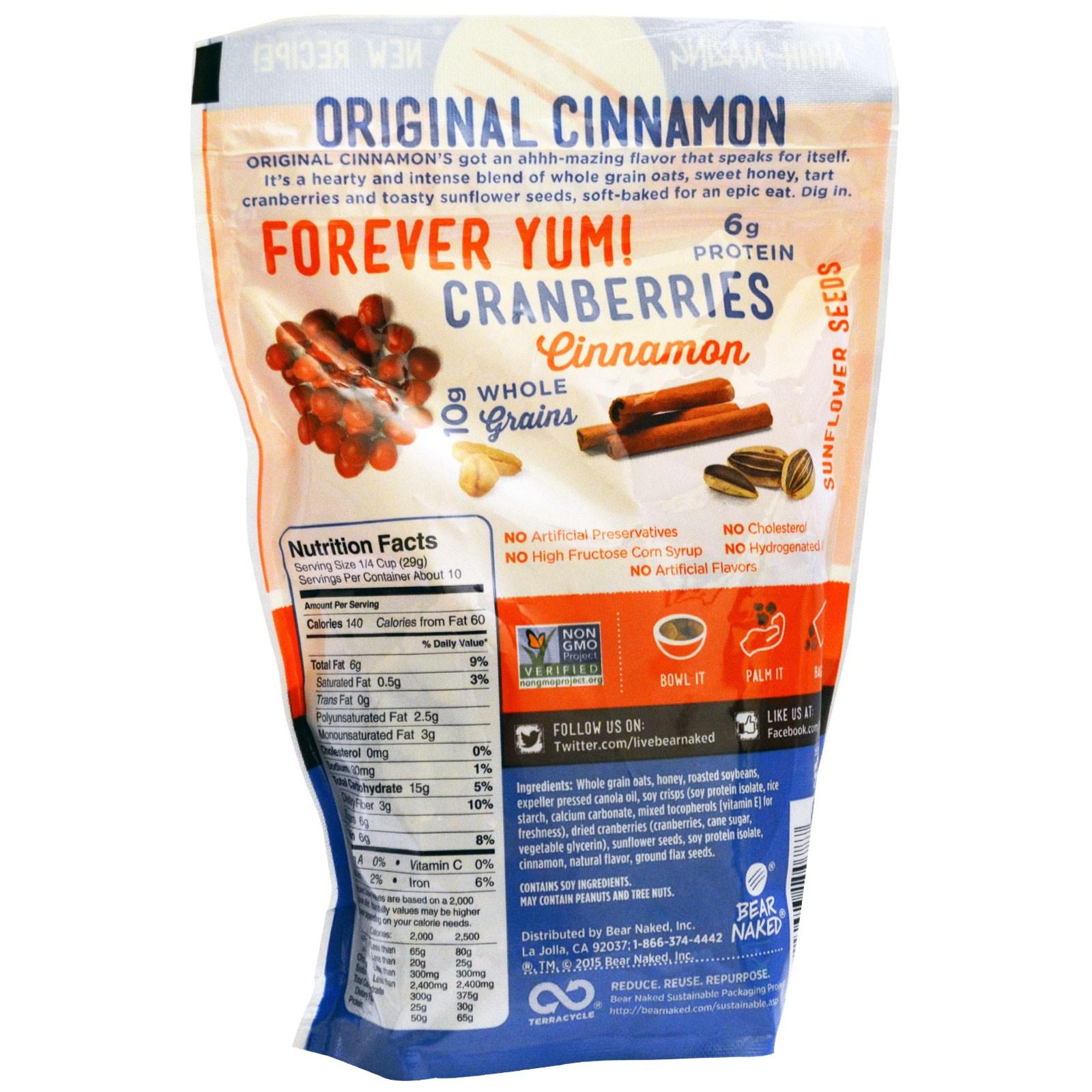 Bear Naked, Soft Baked Granola, Original Cinnamon, 11.2 oz (317 g ...