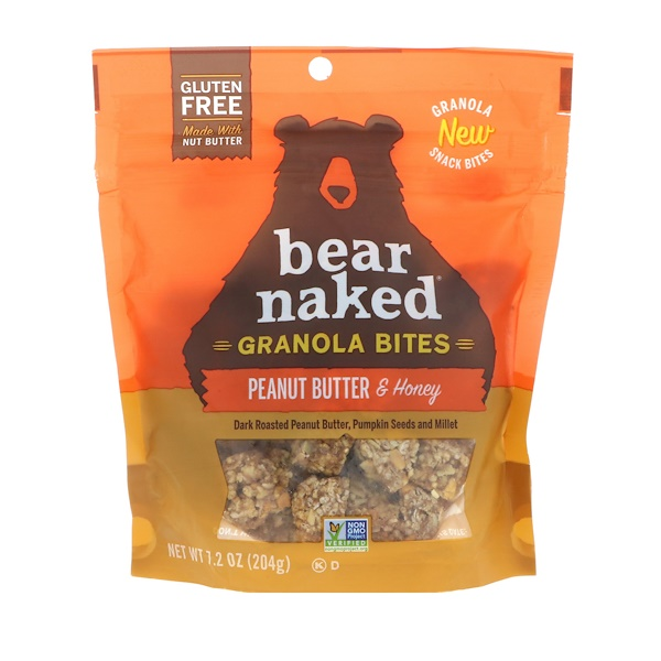 Bear Naked, Granola Bites, Peanut Butter & Honey, 7.2 oz (204 g)