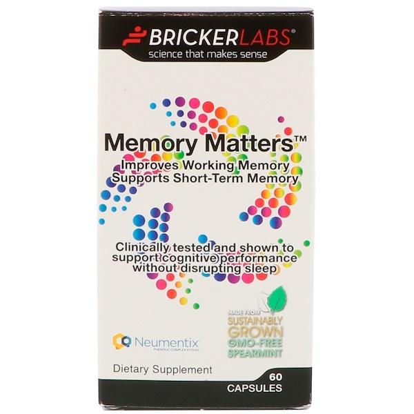Bricker Labs, Memory Matters 提高記憶力膠囊,60 粒
