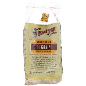 Бобс Рэд Милл, 10 Grain Hot Cereal, Whole Grain, 25 oz (708 g) отзывы покупателей