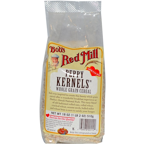 Bob's Red Mill, Peppy Kernels, Whole Grain Cereal, 18 oz (510 g) (Discontinued Item)
