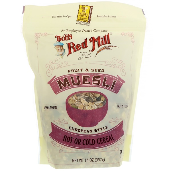Bob's Red Mill, Muesli، فواكه وبذور، 14 أوقية (397 جم) (Discontinued Item)