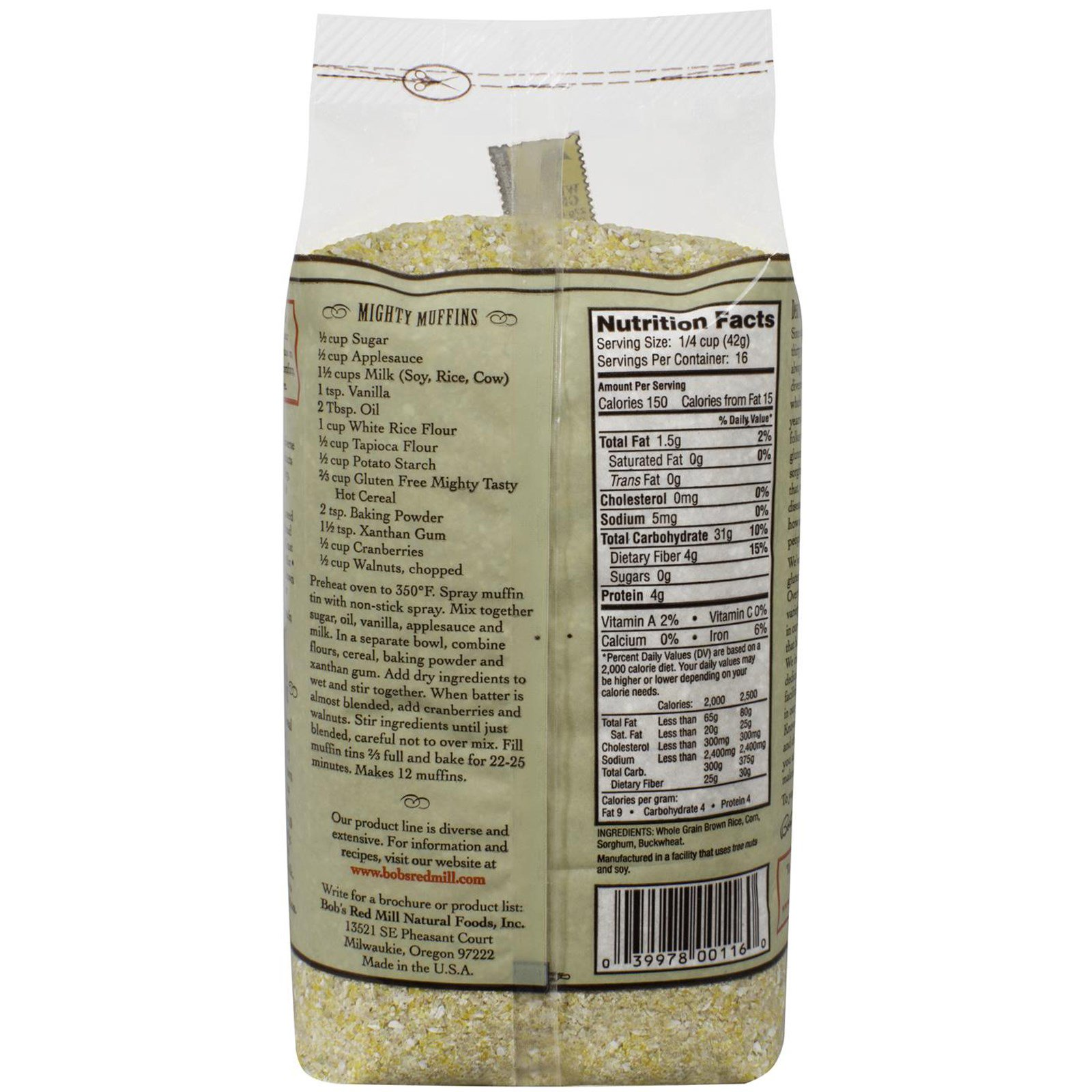 Bob's Red Mill, Mighty Tasty Hot Cereal, Gluten Free, 24 oz