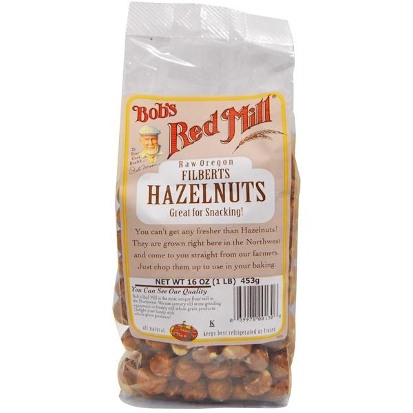 Bob's Red Mill, Hazelnuts, 16 oz (453 g) (Discontinued Item)