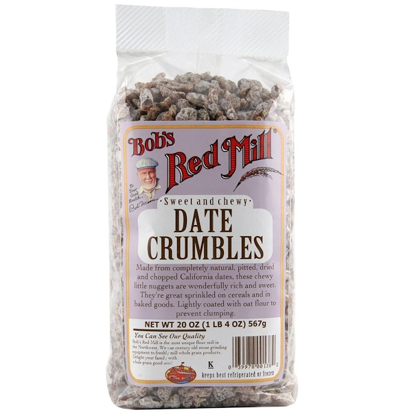 Bob's Red Mill, Date Crumbles, 20 oz (566 g) (Discontinued Item)