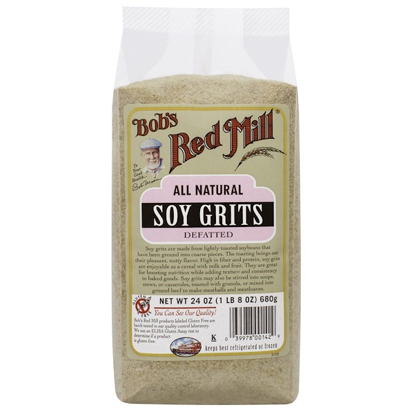 Bob's Red Mill, Soy Grits, 24 oz (680 g) (Discontinued Item)