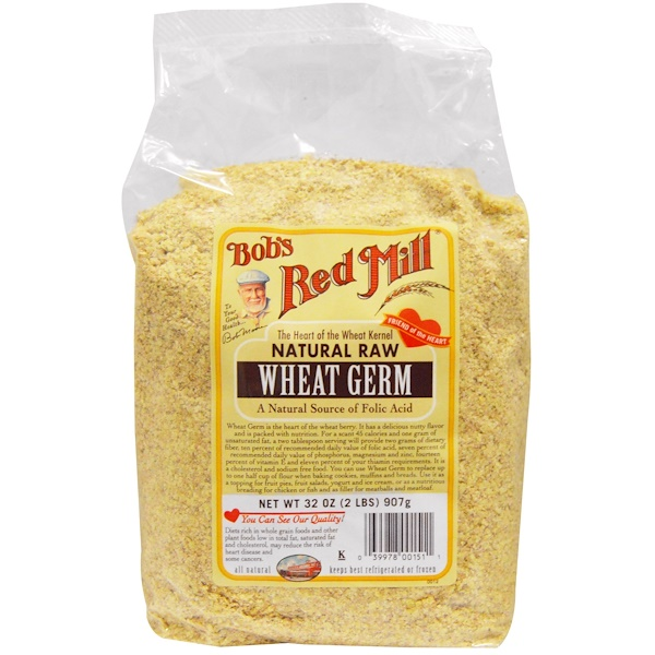 Bob's Red Mill, Natural Raw, Wheat Germ, 2 lbs (907 g)