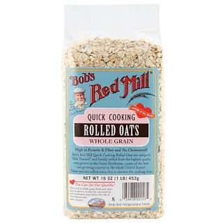 Bob's Red Mill, すぐ調理できるロールドオーツ, 全粒穀物, 16オンス(453 g)