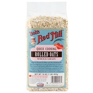 Бобс Рэд Милл, Quick Cooking Rolled Oats, Whole Grain, 16 oz (453 g) отзывы покупателей