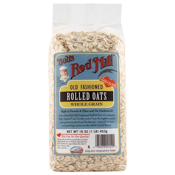 Bob's Red Mill, 昔ながらのオーツ麦, 全粒穀物, 16 オンス (453 g) (Discontinued Item)