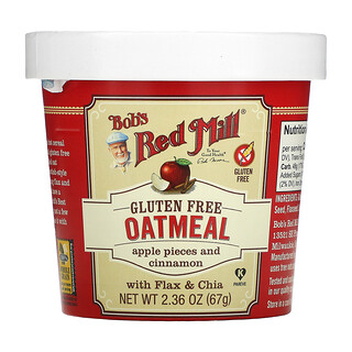 Bob's Red Mill, Oatmeal Cup, Apple Pieces and Cinnamon, 2.36 oz (67 g)