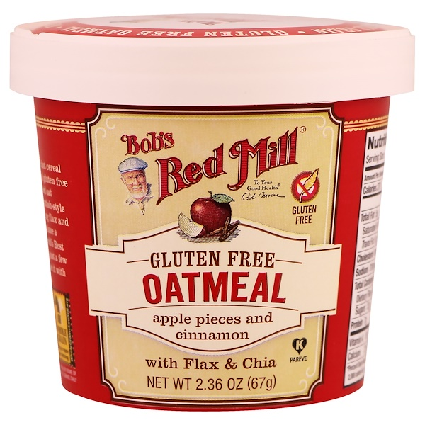 Oatmeal, Apple Pieces and Cinnamon, 2.36 oz (67 g)