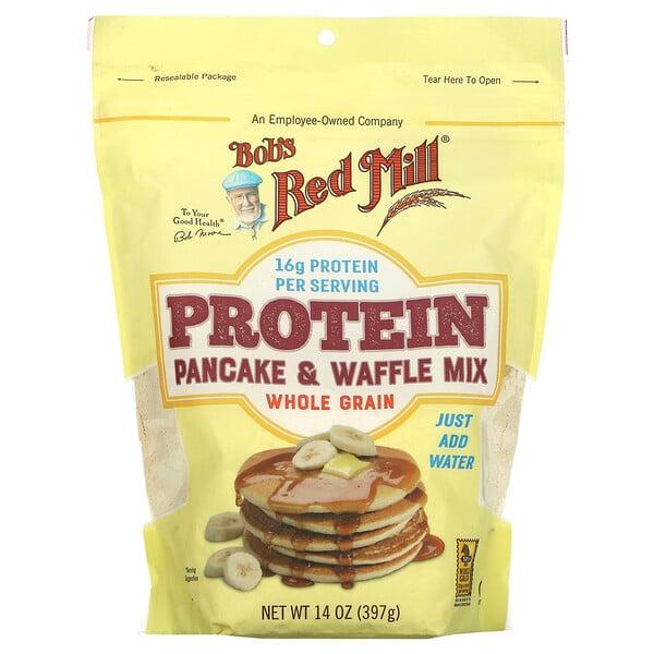 蛋白质煎饼粉和华夫饼粉,全谷物,14 盎司(397 克)