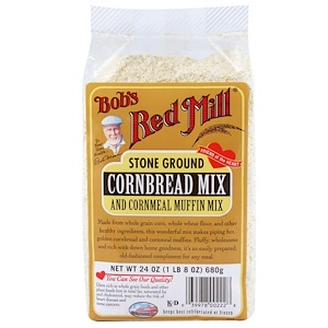 Бобс Рэд Милл, Stone Ground, Cornbread Mix and Cornmeal Muffin Mix, 24 oz (680 g) отзывы