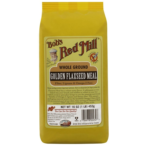 Bob's Red Mill, Golden Flaxseed Meal, 16 oz (453 g) (Discontinued Item)