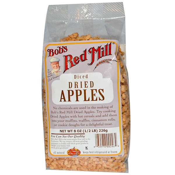 Bob's Red Mill, Diced Dried Apples, 8 oz (226 g) (Discontinued Item)