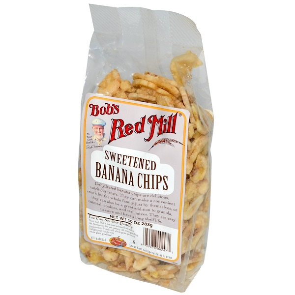 Bob's Red Mill, Sweetened Banana Chips, 10 oz (283 g) (Discontinued Item)