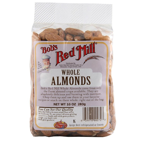 Bob's Red Mill, Whole Almonds, 10 oz (283 g) (Discontinued Item)