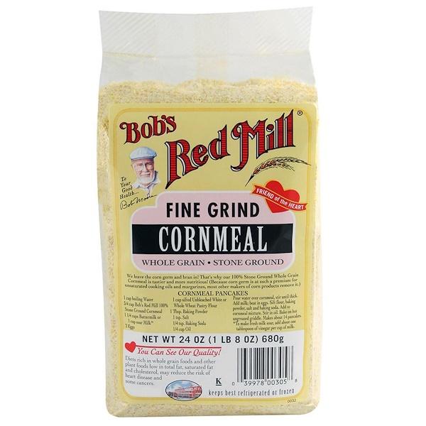 Bob's Red Mill, Cornmeal, Fine Grind, 24 oz (680 g) (Discontinued Item)
