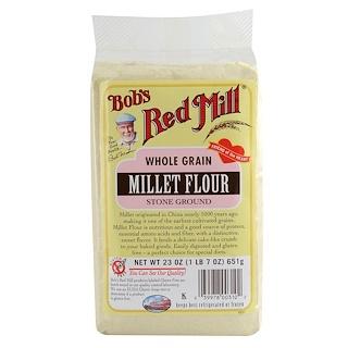 Bob's Red Mill, Whole Grain, Millet Flour, Stone Ground, 23 oz (652 g)