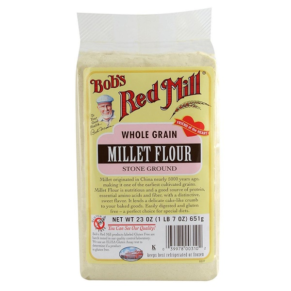 Bob's Red Mill, Millet Flour, Whole Grain, 23 oz (652 g) (Discontinued Item)