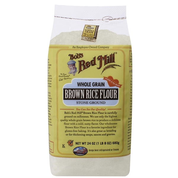 Brown Rice Flour, Whole Grain, 24 oz (680 g)