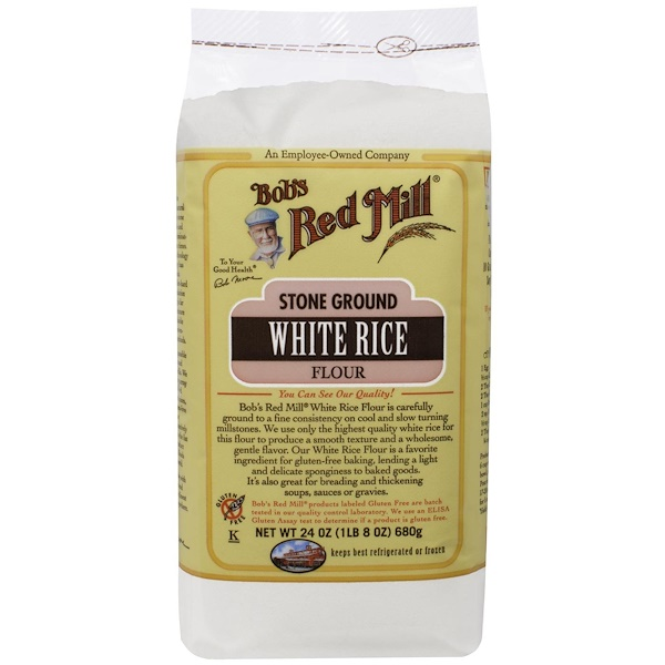 Bob's Red Mill, Stone Ground White Rice Flour, 1.5 lbs (680 g)