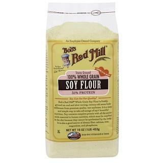Bob's Red Mill, 100% Whole Grain Soy Flour, 16 oz (453 g)